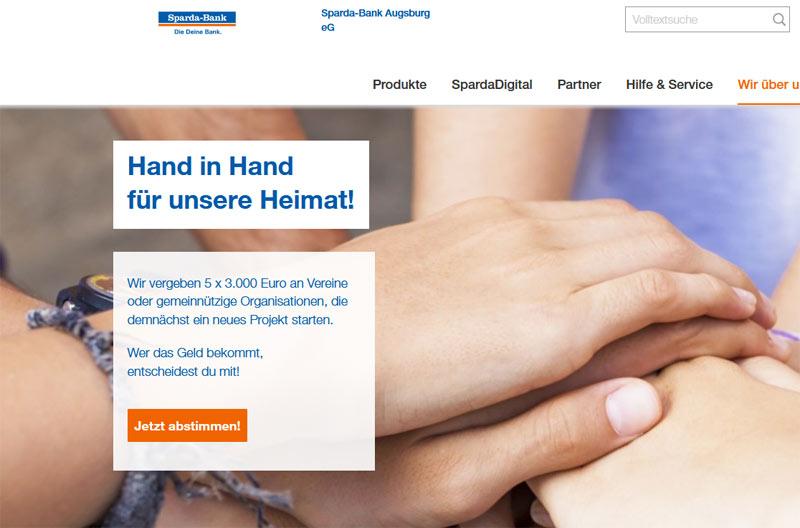 Spendenwahl der Spardabank Augsburg