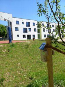 Im Garten vor dem Ellinor-Holland-Haus